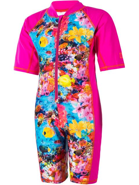 Color Kids Tayac AOP UPF Suit Kids pink glo